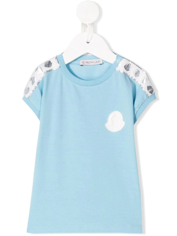 Baby Girls Blue Logo Cotton T-shirt