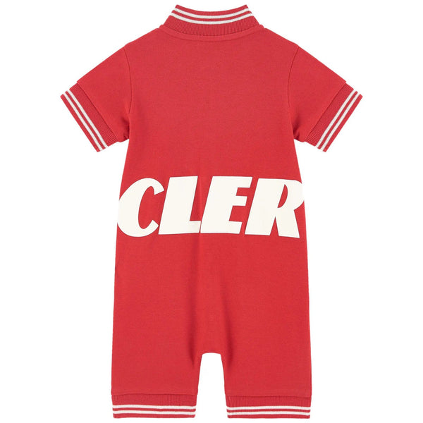 Baby Boys Red Logo Cotton Babysuit