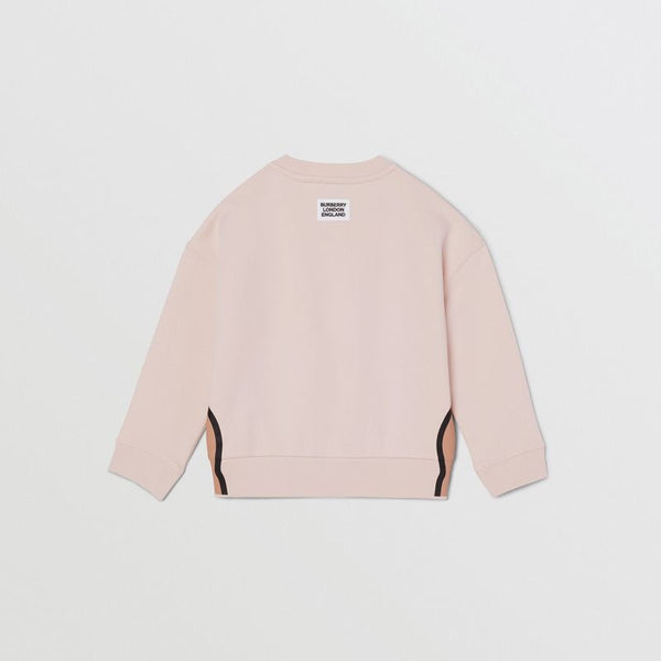 Girls Soft Pink Cotton Sweatshirt