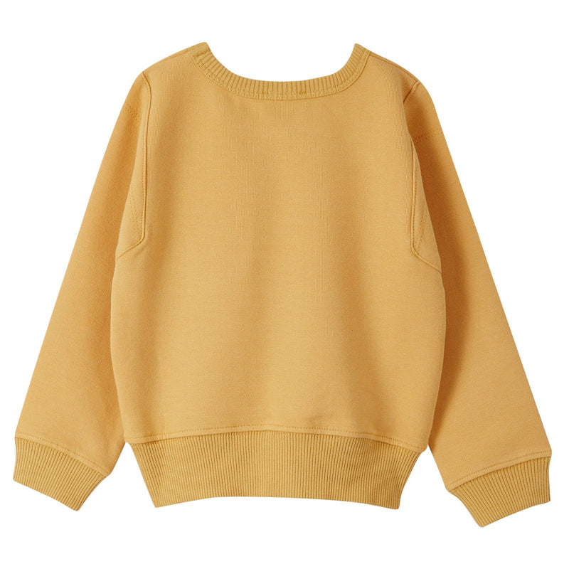 Boys Mustard Yellow Sweater With Stripe Patch Pockets - CÉMAROSE | Children's Fashion Store - 2