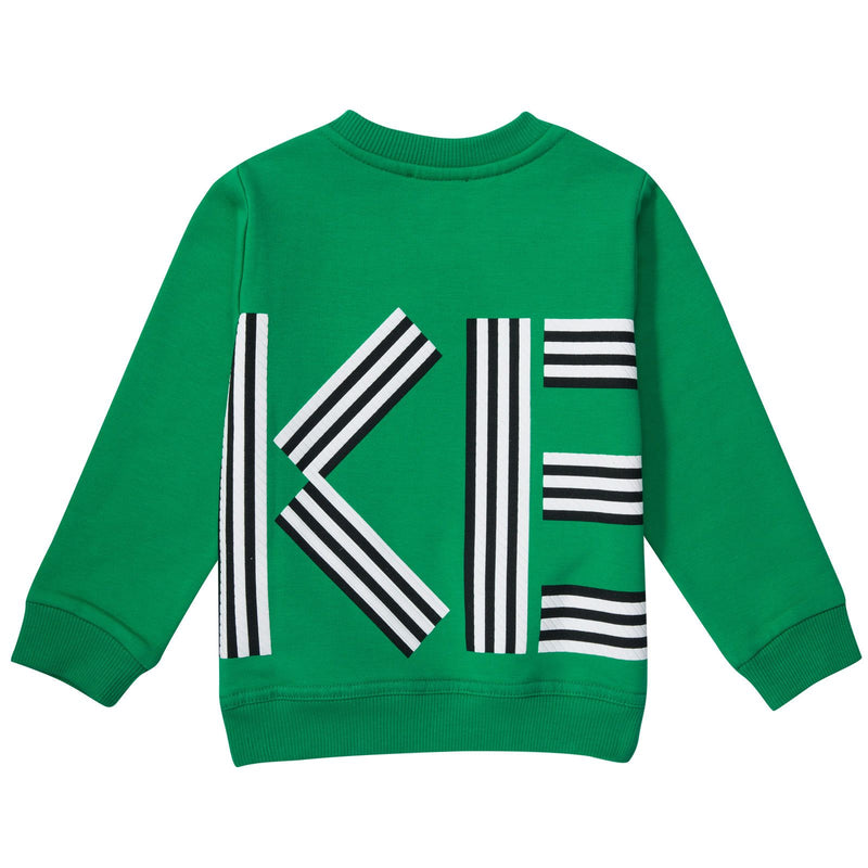 Boys&Girls Bright Green Printed Logo Sweatshirt - CÉMAROSE | Children's Fashion Store - 2