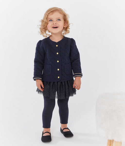 Baby Girls Black Coat
