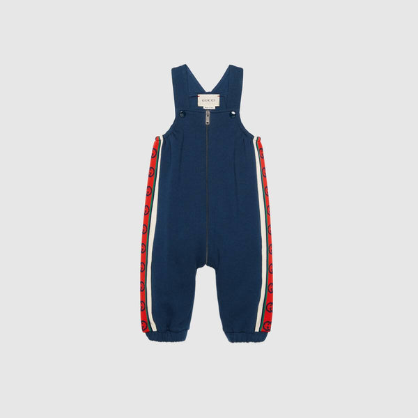 Baby Boys Navy Blue GG Cotton Trousers