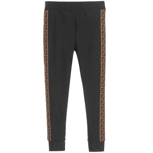 Girls Black FF Logo Leggings