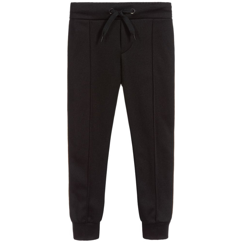 Boys Black FF Logo Trousers