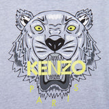 Boys Grey Tiger Embroidered Cotton Jersey T-Shirt - CÉMAROSE | Children's Fashion Store - 3