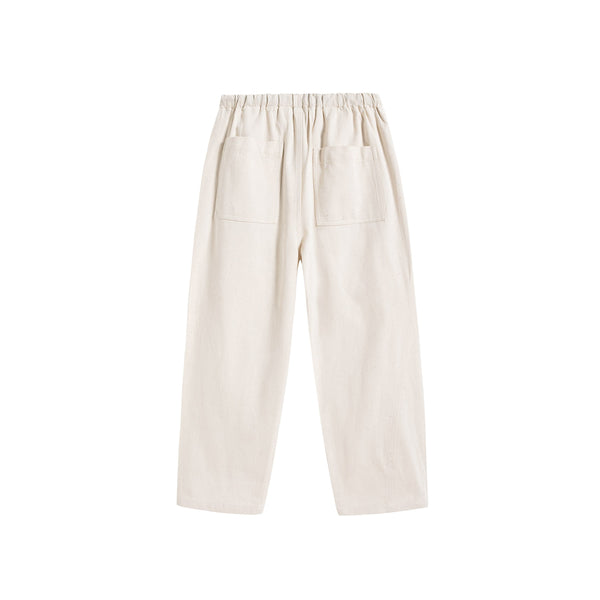 Boys & Girls Chalk Twill Cotton Trousers