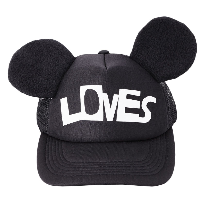 Baby Black Mouse Cap With Loves Logo - CÉMAROSE | Children's Fashion Store - 2