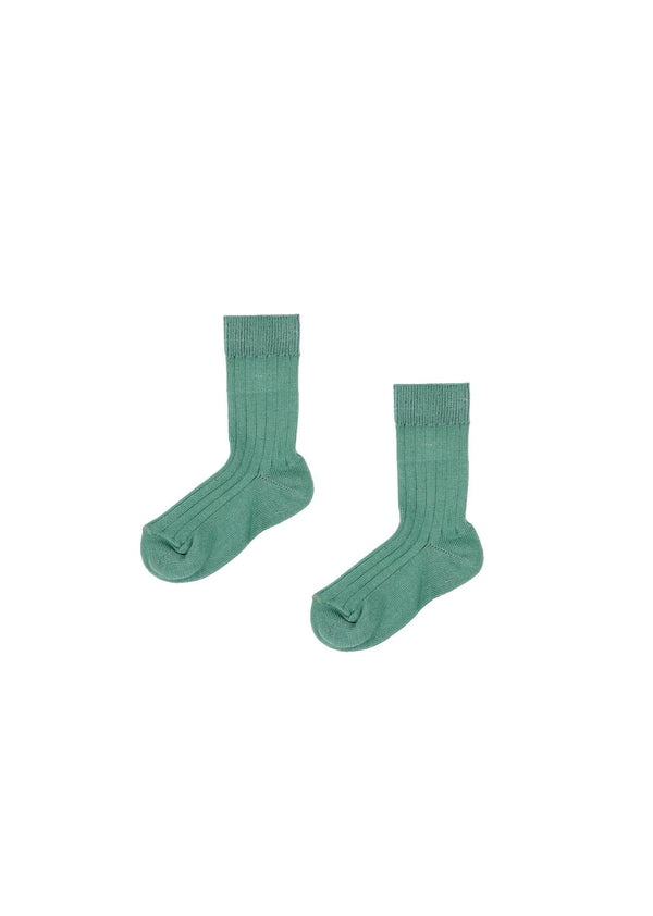 Baby Boys & Girls Green Cotton Socks