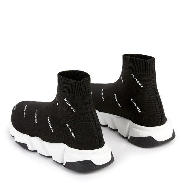 Boys & Girls Black Speed Logo Shoes