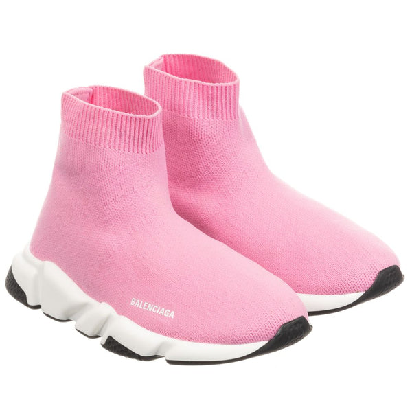 Girls Pink Speed Logo Shoes