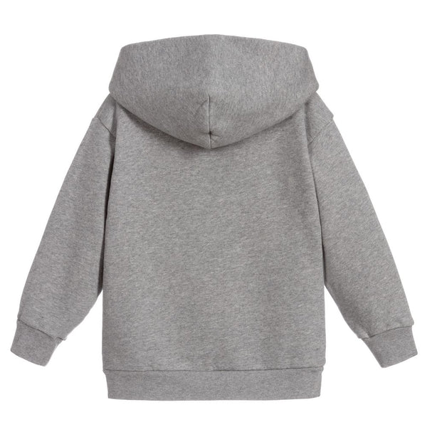 Boys & Girls Grey Flag Hooded Sweatshirt
