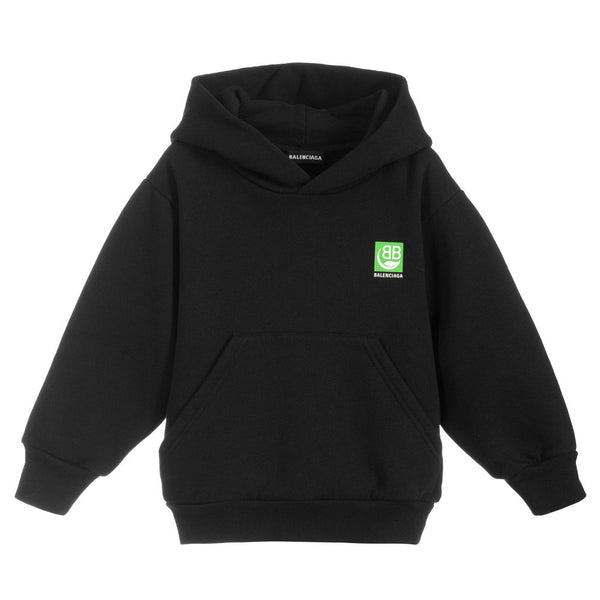 Boys & Girls Black Hooded Sweatshirt