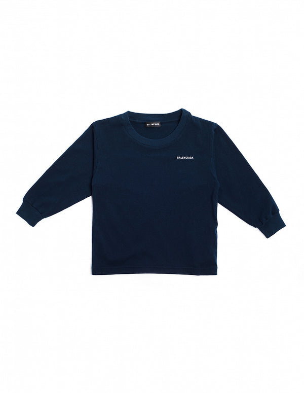 Boys Navy Cotton Top
