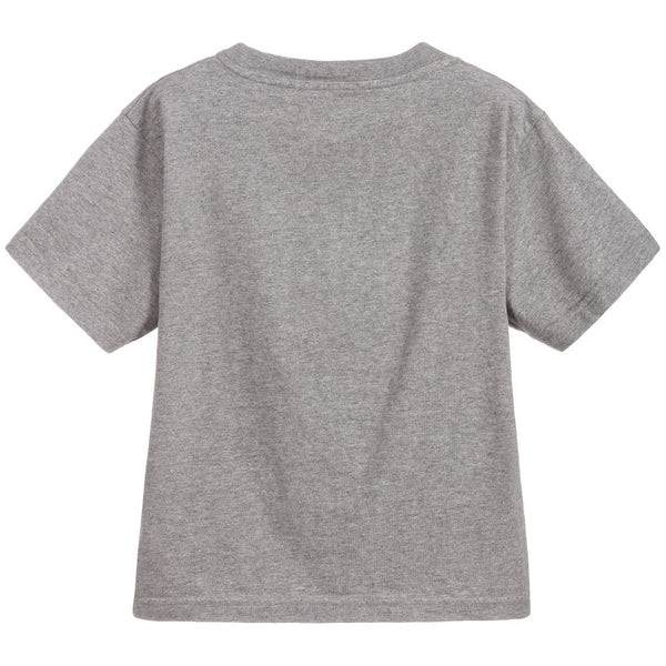Boys & Girls Grey Flag Logo Cotton T-shirt