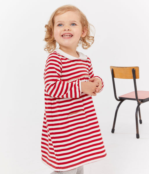 Baby Girls Red Stripes Dress