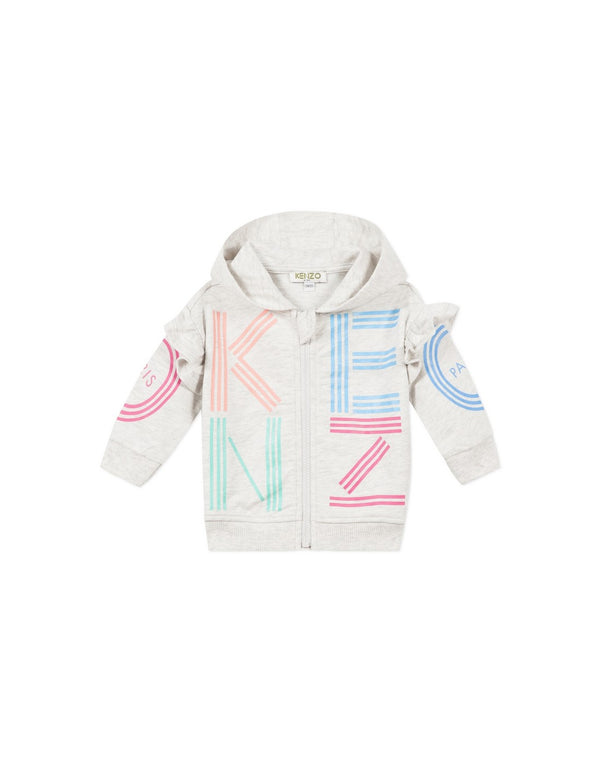 Baby Girls Grey Logo Cotton Cardigan