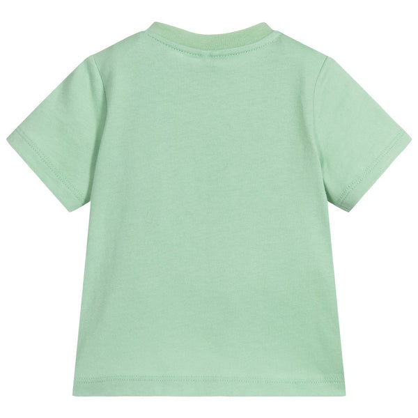 Baby Boys Mint Green Cotton T-shirt