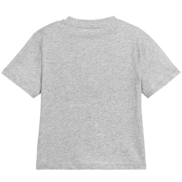 Boys Grey Logo Cotton T-shirt