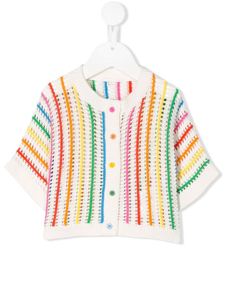 Baby Girls Rainbow Stripe Cotton Cardigan