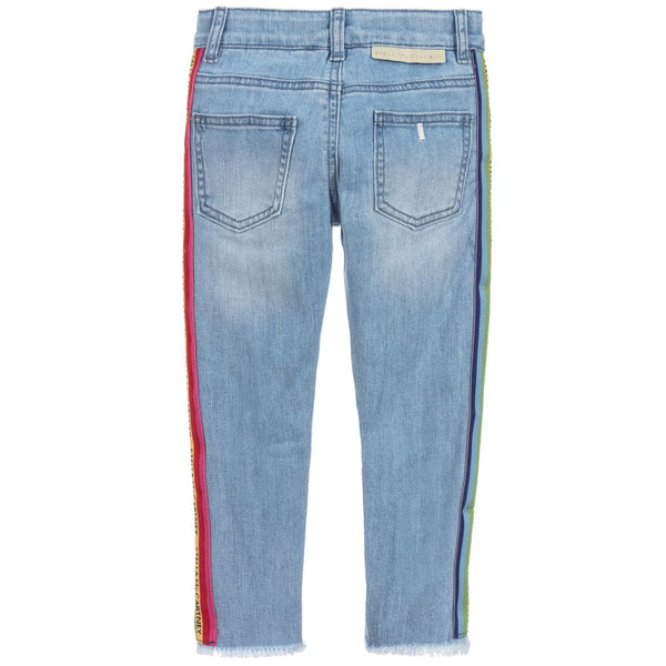 Girls Blue Denim Trousers