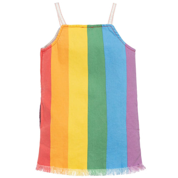 Girls Rainbow Denim Dress