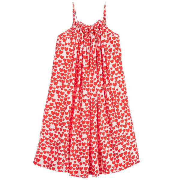 Girls Red & White Heart Dress