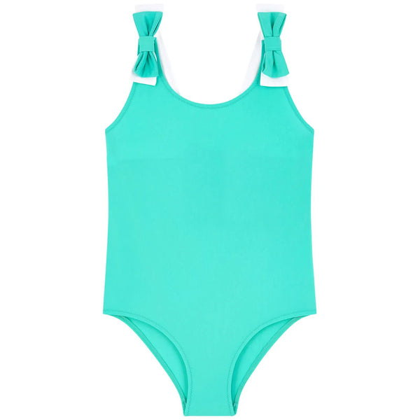 Girls Emerald Green Swimsuit