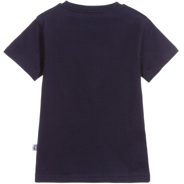 Boys & Girls Dark Blue Cotton T-shirt