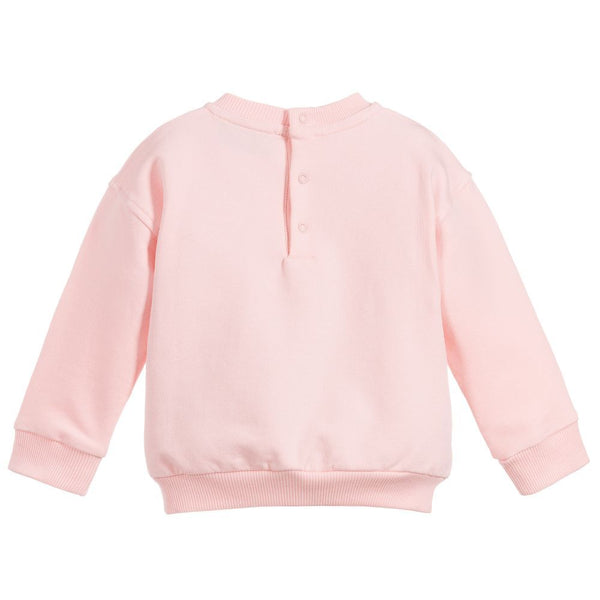 Baby Boys & Girls Pink Cotton Sweatshirt