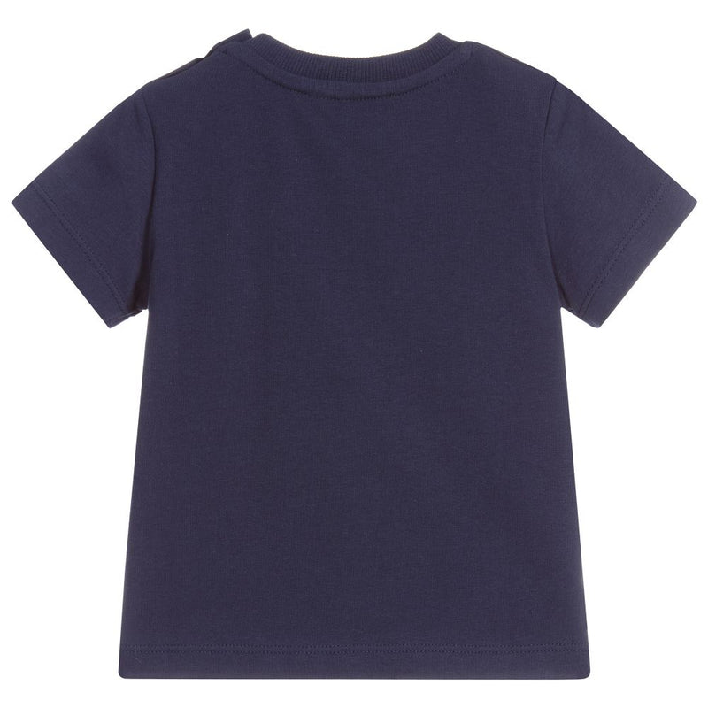 Baby Boys & Girls Navy Cotton T-shirt