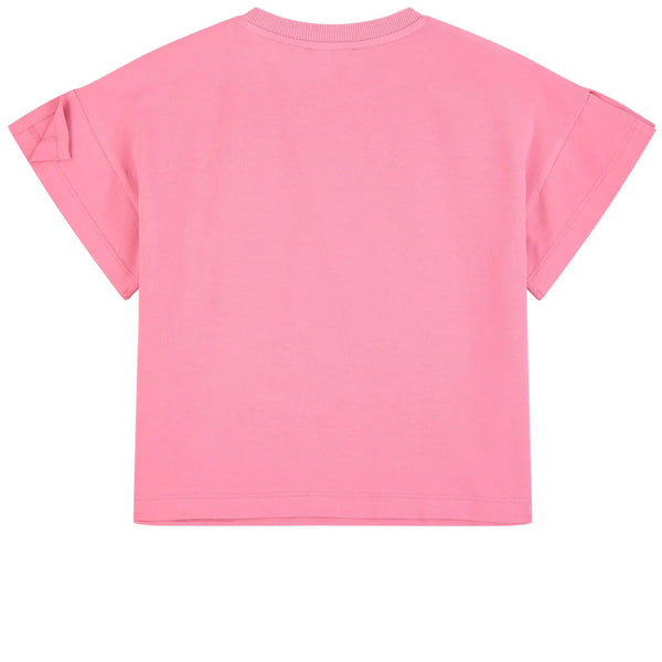 Girls Pink Logo Cotton T-shirt