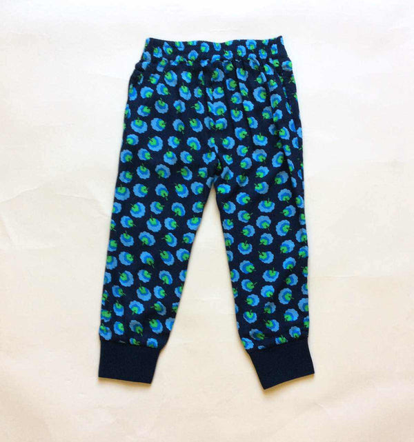 Girls Blue Cotton Allover Printed Trouser - CÉMAROSE | Children's Fashion Store - 1