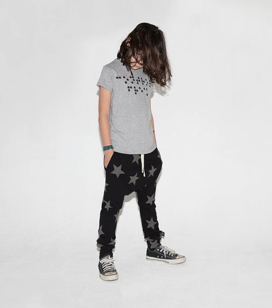 Boys & Girls Black Star Baggy Cotton Trousers