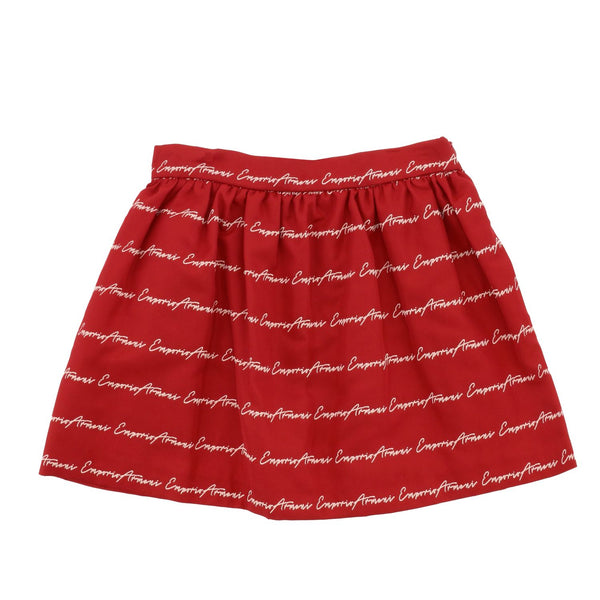 Girls Red Logo Skirt