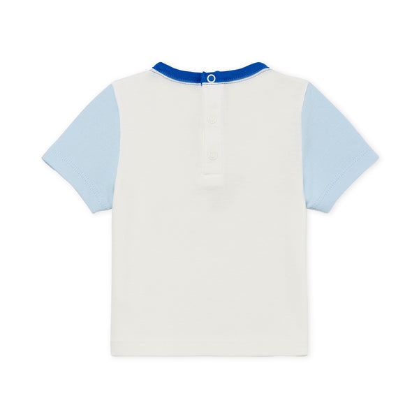 Baby White & Light Blue T-shirt
