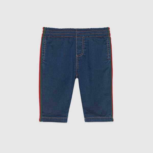 Baby Boys&Girls Blue Cotton Jogging Pants