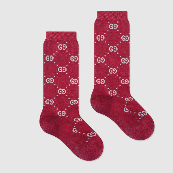 Girls & Boys Flame & Ivory Cotton Socks