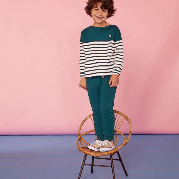 Boys Green Stripes T-shirt