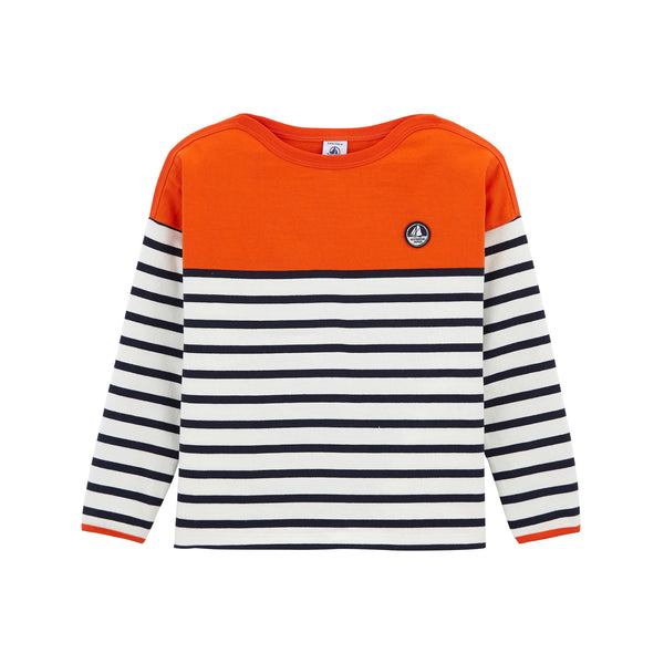 Boys & Girls Orange Stripes T-shirt