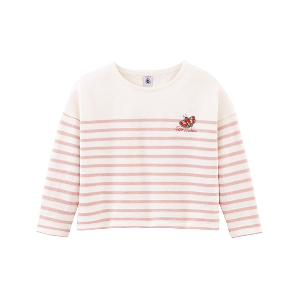 Girls Pink Stripes T-shirt