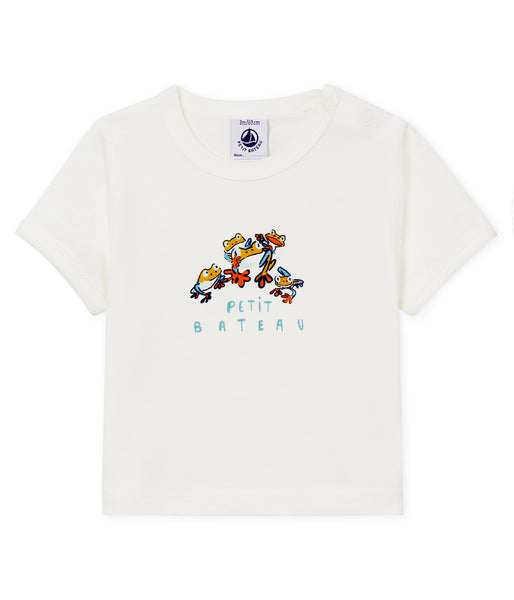 Baby Girls White Printed T-shirt
