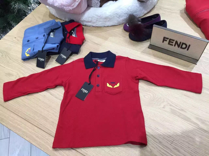 Baby Boys Red  Monster Cotton Polo Shirt - CÉMAROSE | Children's Fashion Store