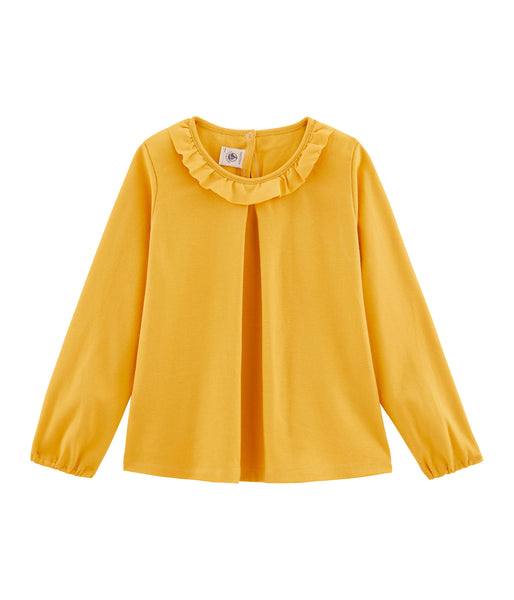 Girls Yellow Frill Shirt