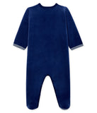 Baby Boys Blue Cotton Jumpsuit