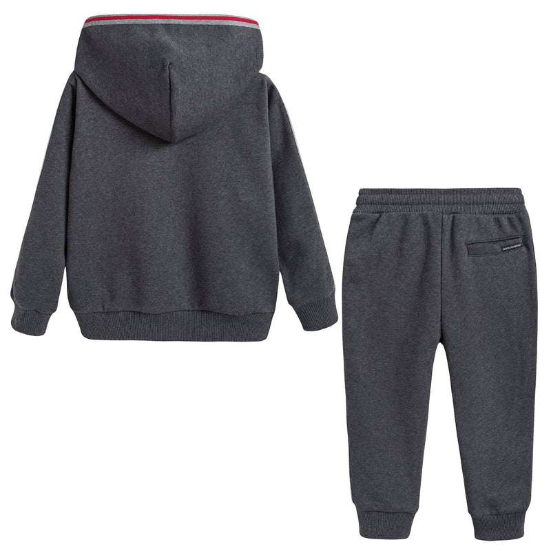 Boys Grey Cotton Tracksuits