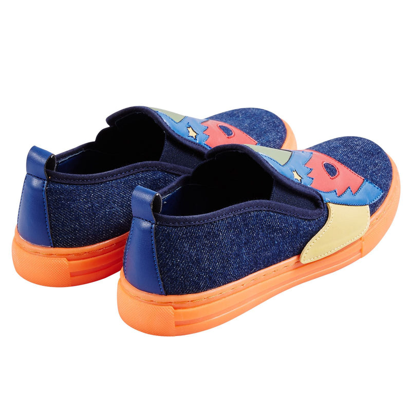 Leo Boys Multicolor Super Heroes Printed Denim Trainers - CÉMAROSE | Children's Fashion Store - 4