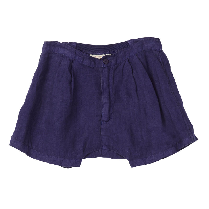 Boys Navy Blue Linen Basil Short - CÉMAROSE | Children's Fashion Store