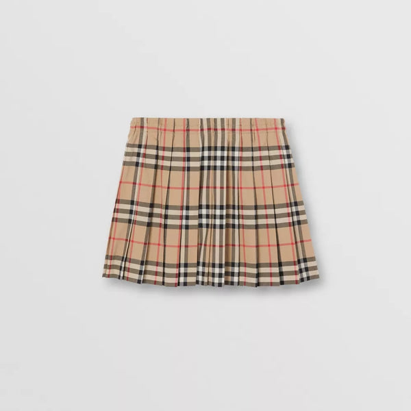 Girls Archive Beige Stripe Cotton Skirts