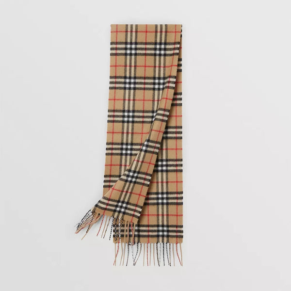 Boys & Girls Beige Stripe Wool Scarve